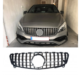 GRILL COMPATIBEL MET MERCEDES-BENZ W176 A-KLASSE FACELIFT CHROME