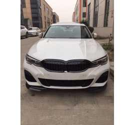 KIT DIFUSOR COMPATIBIL CU PACHETUL BMW SERIA 3 G20 M NEGRU LUCIOS