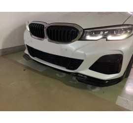 DIFFUSER SET COMPATIBEL MET BMW 3 SERIE G20 M-PAKKET GLANZEND ZWART