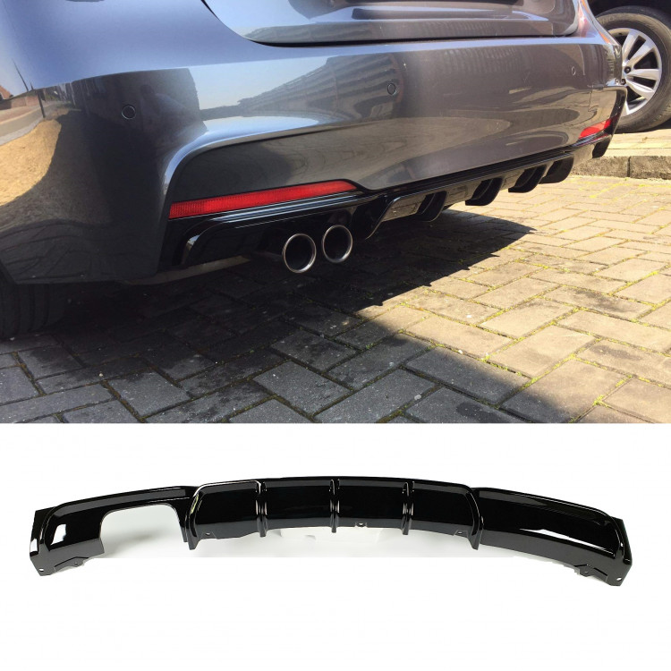 DIFFUSER COMPATIBLE WITH BMW F30 F31 3 SERIES GLOSSY BLACK