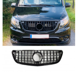 GRILL COMPATIBLE WITH MERCEDES-BENZ W447 VITO BLACK