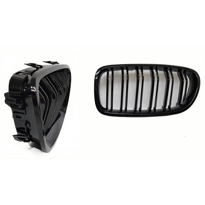 GRILL KIDNEYS GLOSSY BLACK COMPATIBLE WITH BMW F10 F11 5 SERIE