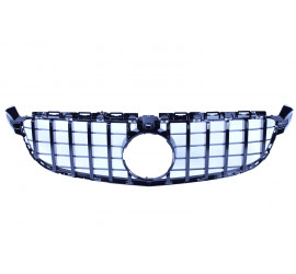 FRONT GRILL GLOSSY BLACK WITH FRONTCAMERA COMPATIBLE WITH MERCEDES-BENZ C 63 AMG (S) W205
