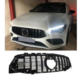 FRONT GRILL COMPATIBLE WITH MERCEDES-BENZ W118 CLA CLASS BLACK