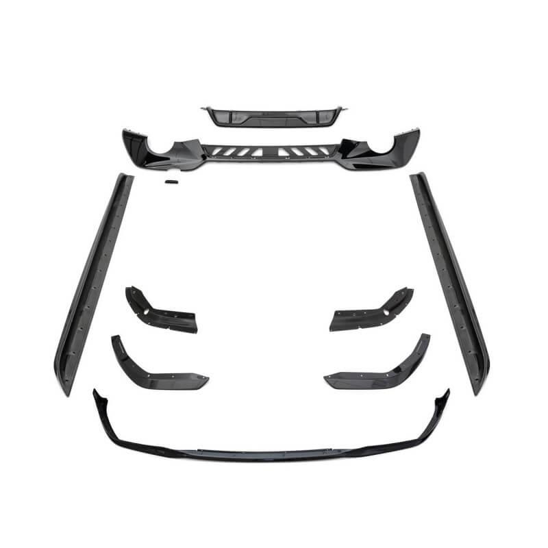 DIFFUSER SET COMPATIBEL MET BMW 3 SERIE G21 BREAK M-PAKKET GLANZEND ZWART