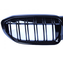 GRILL KIDNEYS COMPATIBLE WITH BMW 3 SERIES G20 - G21 GLOSSY BLACK