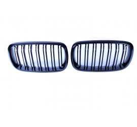 GRILL KIDNEYS KOMPATYBILNY Z BMW X5 X6 F15 F16 GLOSSY BLACK DOUBLE BARS