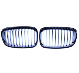 GRILL KIDNEYS KOMPATYBILNY Z BMW SERII 1 F20 - F21 GLOSSY BLACK SINGLE BARS