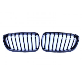 GRILL KIDNEYS KOMPATYBILNY Z BMW SERII 2 F22 - F23 GLOSSY BLACK SINGLE BARS