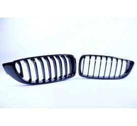 GRILL KIDNEYS SINGLE BARS NERO LUCIDO COMPATIBILE CON BMW F32 F33 F36 F80 F82