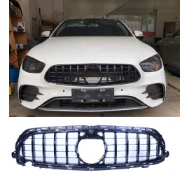 GRILL GLOSSY BLACK COMPATIBLE WITH MERCEDES E W213 S213 A238 C238 FACELIFT WITH AMG LINE PACKAGE
