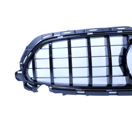 GRILL GLOSSY BLACK WITH FRONT CAMERA COMPATIBLE WITH MERCEDES E W213 S213 A238 C238 FACELIFT WITH AMG LINE PACKAGE