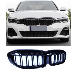 RIÑONES DE PARRILLA COMPATIBLES CON BMW SERIE 3 G20 - G21 NEGRO BRILLANTE