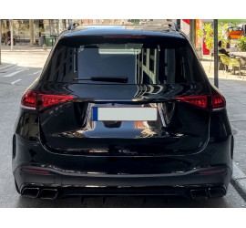 DIFFUSER COMPATIBLE WITH MERCEDES GLE W167 2019+ WITH DOUBLE BLACK EXHAUST TIPS