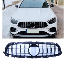CHROME GRILL WITH FRONT CAMERA COMPATIBLE WITH MERCEDES E W213 S213 A238 C238 FACELIFT WITH AMG LINE PACKAGE