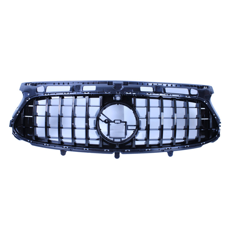 GRILL GLOSSY BLACK WITH FRONT CAMERA COMPATIBLE WITH MERCEDES-BENZ GLA H247 2020 WITH AMG LINE PACK