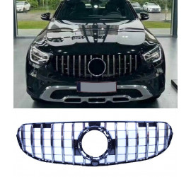 GRILL COMPATIBLE WITH MERCEDES-BENZ X253 C253 GLC - GLC COUPE WITHOUT AMG LINE PACKAGE CHROME 2020+