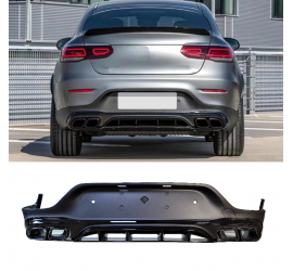 DIFFUSER COMPATIBLE WITH MERCEDES GLC COUPE C253 2015+ WITH BLACK EXHAUST TIPS