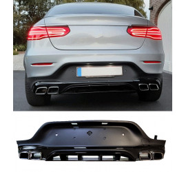 DIFFUSER COMPATIBLE WITH MERCEDES GLC COUPE C253 2015+ WITH CHROME EXHAUST TIPS