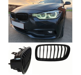 GRILL KIDNEYS COMPATIBLE WITH BMW 3 SERIE F30 - F31 GLOSSY BLACK