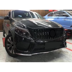 FRONT GRILL COMPATIBLE WITH MERCEDES-BENZ GLE COUPE C292 CHROME