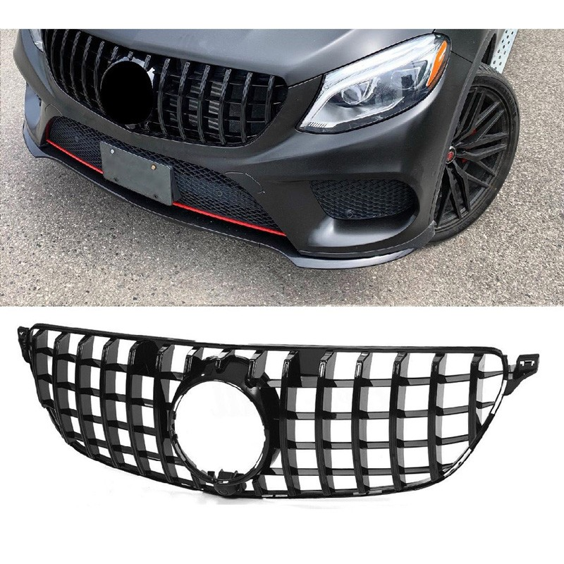 FRONT GRILL COMPATIBLE WITH MERCEDES-BENZ GLE COUPE C292 BLACK