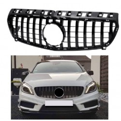 FRONT GRILL COMPATIBLE WITH MERCEDES-BENZ W176 A- CLASS BLACK