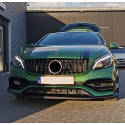 FRONT GRILL COMPATIBLE WITH MERCEDES-BENZ W176 A-KLASSE FACELIFT BLACK