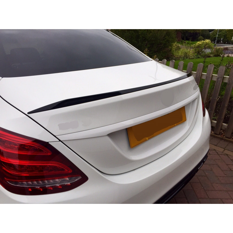 TRUNK SPOILER COMPATIBLE WITH MERCEDES-BENZ C W205 SEDAN GLOSSY BLACK