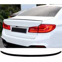 A BMW 5-es SOROZATÚ G30 SEDAN GLOSSY BLACK-KAL KOMPONIKUMAL KOMPLEKTÁLHATÓ KERESKEDELMI SPOILER