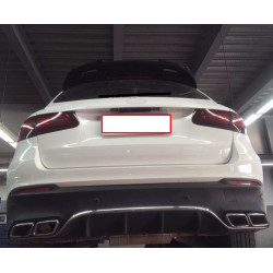 TRUNK SPOILER COMPATIBLE WITH MERCEDES-BENZ GLC X253 SUV GLOSS BLACK