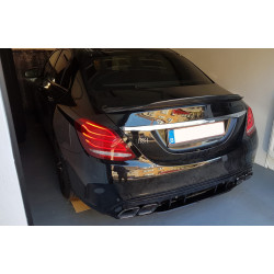 EXHAUST MOLDED DIFFUSER COMPATIBLE WITH MERCEDES W205 C CLASS BERLINE AND BREAK