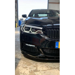 FRONT SPOILER LIP GLOSSY BLACK COMPATIBLE WITH BMW 5 SERIES G30 AND G31