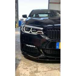 VOORSPOILER LIP GLANZEND ZWART COMPATIBEL MET BMW 5 SERIE G30 EN G31