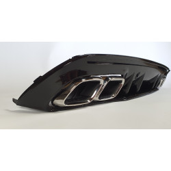 DIFFUSER WITH CHROME EXHAUST TIPS COMPATIBLE WITH MERCEDES W205 C CLASS SEDAN AND BREAK