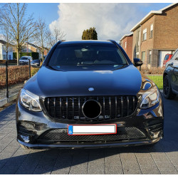 FRONT GRILL COMPATIBLE WITH MERCEDES-BENZ GLC - GLC COUPE GLOSSY BLACK