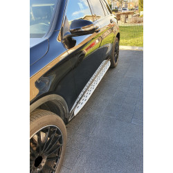 SIDE STEPS RUNNING BOARDS COMPATIBLE WITH MERCEDES-BENZ GLC - GLC COUPE