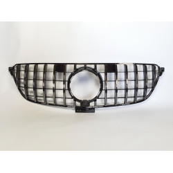 FRONT GRILL COMPATIBLE WITH MERCEDES-BENZ GLE COUPE C292 BLACK CHROME