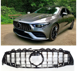 GRILL COMPATIBLE WITH MERCEDES-BENZ W118 CLA-CLASS BLACK CHROME WITH FRONT CAMERA