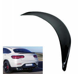 TRUNK SPOILER COMPATIBLE WITH MERCEDES-BENZ GLC C253 COUPE GLOSSY BLACK SPORTS LOOK
