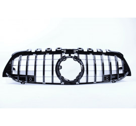 BLACK FRONT GRILL COMPATIBLE WITH MERCEDES-BENZ A CLASS W177