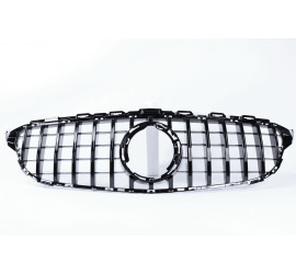 FRONT GRILL GLOSS BLACK COMPATIBLE WITH MERCEDES-BENZ C W205 FACELIFT