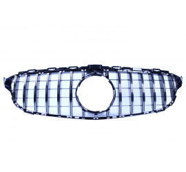 FRONT GRILL BLACK/CHROME COMPATIBLE WITH MERCEDES-BENZ C W205