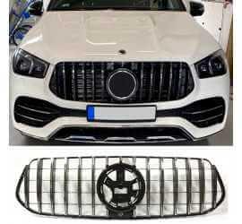 CALANDRE COMPATIBLE AVEC MERCEDES-BENZ GLE SUV W167 CHROME 2019+
