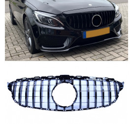 FRONT GRILL GLOSSY BLACK COMPATIBLE WITH MERCEDES-BENZ C-KLASSE W205
